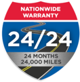 24 month 24,000 mile auto repair warranty